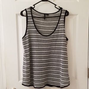 Black &white stripped tank